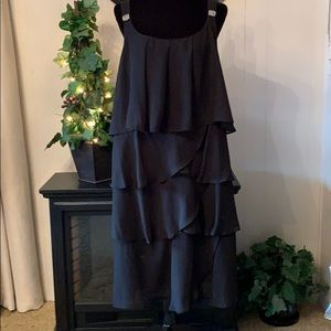 Black chiffon formal dress